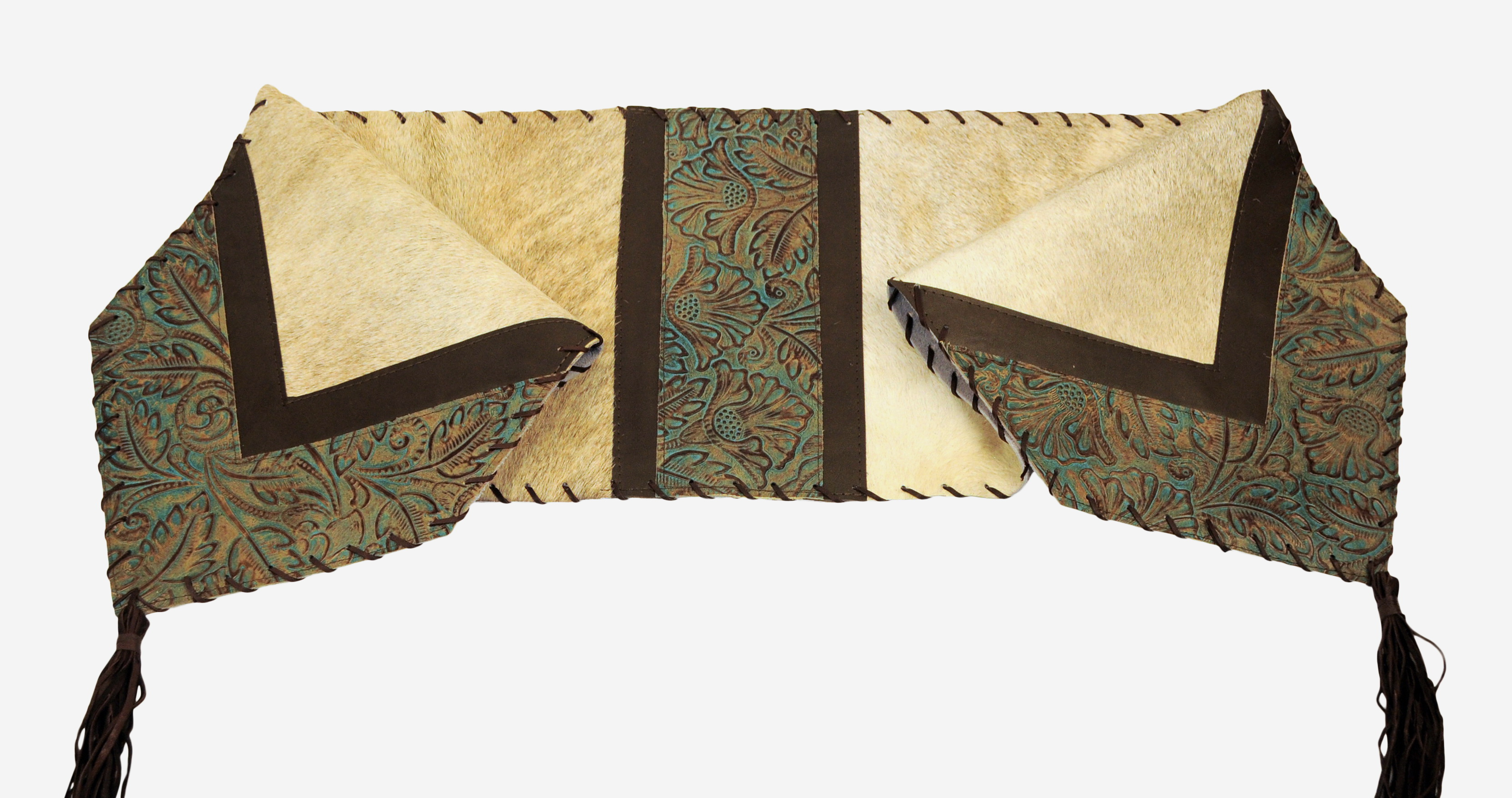 Tr 0533 hair on cow leather in light brindle tan color base for Hide tr in table