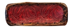 BO-0124 Red swirl embossed leather