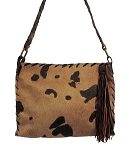 HB-0376 Brown and tan color acid wash hair-on cow leather  13