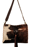 HB-0377  Tri color hair-on-cow leather front. 13