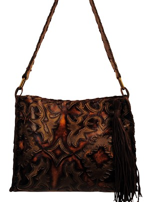 "HB-0384 Brown and caramel colors Laredo Sepia design.  13"" X11"""