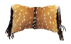 "P-0459   Axis (Chital) deer front with 3"" fringe  16"" X 12"""