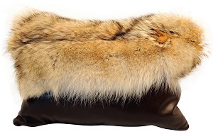 "P-0815  Real Coyote fur front  22"" X 16"""